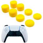 Силиконовые накладки для геймпада PS5 Dualsense комплект 8 шт. желтого цвета