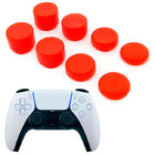 Силиконовые накладки для геймпада PS5 Dualsense комплект 8 шт. красного цвета