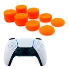 Силиконовые накладки для геймпада PS5 Dualsense комплект 8 шт. оранжевого цвета