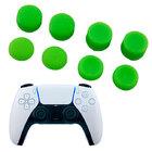 Силиконовые накладки для геймпада PS5 Dualsense комплект 8 шт. зеленого цвета
