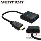 Адаптер переходник HDMI to VGA + аудио выход + доп питание Vention (Оригинал)