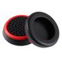 PS4 cиликоновые накладки на стики dualshock 4 (Black-Red) (2шт)