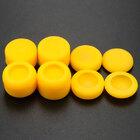 PS4 силиконовые накладки высокие профессиональные полный набор 8 in 1 желтые