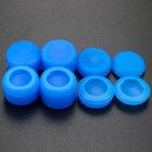 PS4 силиконовые накладки высокие профессиональные полный набор 8 in 1 синие