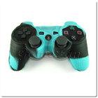 PS3 силиконовый чехол для джойстика (Камуфляж)(Blue-black)