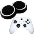 Силиконовые накладки для джойстика Xbox Series X / S черные с белой окантовкой 2 шт
