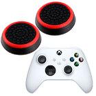 Силиконовые накладки для джойстика Xbox Series X / S черные с красной окантовкой 2 шт