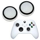 Силиконовые накладки для джойстика Xbox Series X / S белые с черной окантовкой 2 шт