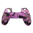 Силиконовый чехол для джойстика PS4 камуфляжный фиолетовый