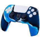 Силиконовый чехол для джойстика PS5 Dualsense камуфляжный синий