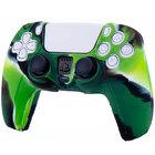 Силиконовый чехол для джойстика PS5 Dualsense камуфляжный зеленый