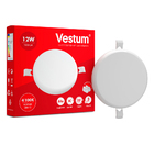 Светильник LED врезной без рамки круглый Vestum 12W 4100K 220V